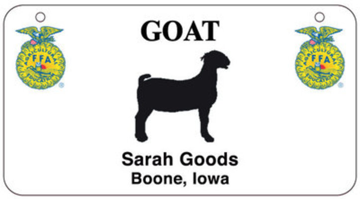 Personalized 4-H and FFA Stall Tags
