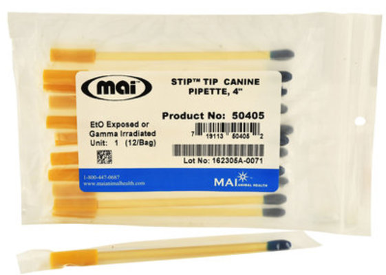 """4"""" Canine STIP Tip Pipette, 12 pack"""
