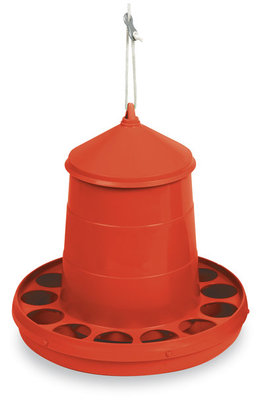 Plastic Hanging Chicken Feeder, 4 lbs