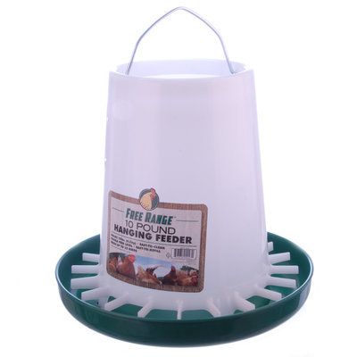 Poly Hanging Chicken Feeder, 10 lb