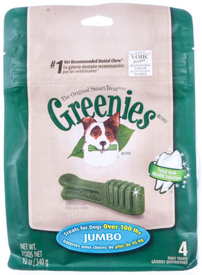 4 ct Greenies Treat Pack, Jumbo 12 oz