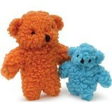Fleecy Bear Dog Toy with Squeaker