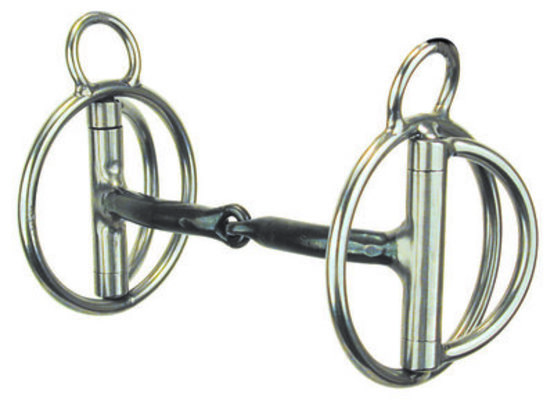 "Rockin ""S"" Snaffle Bit 7/16"" Smooth Sweet Iron Snaffle"