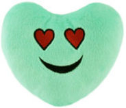 Plush Heart Emoji Dog Toy, 5""