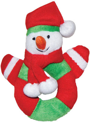 Holiday Plush Rings, Snowman