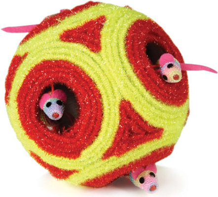 "Roll and Pop Peek-A-Boo Cat Ball, 5""D"