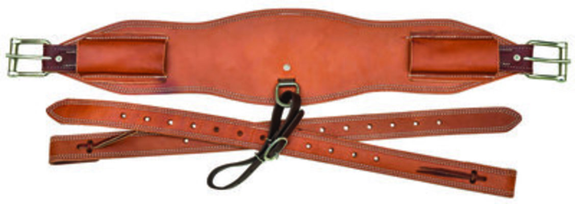 "6 1/2"" Roper Back Cinch with Billets, Light Oiled"
