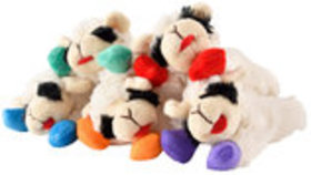 "6"" Lamb Chop Dog Toy w/Colorful Hooves, (Assorted) each"