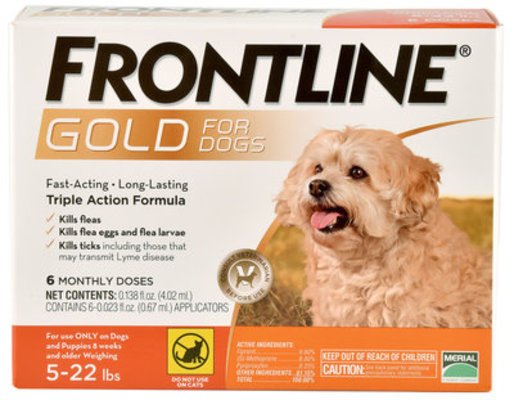 Frontline Gold for Dogs, 6-pack