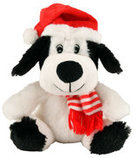 "6"" Plush Christmas Dog"