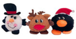 "6"" Round Plush Christmas Toys with Squeaker"