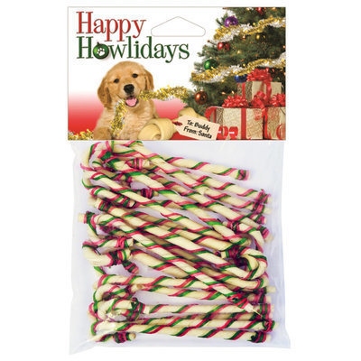"7"" Rawhide Candy Canes, 20 ct"