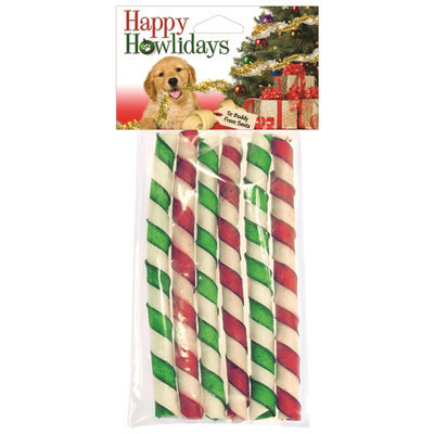 Holiday Rawhide Twisty Curls, 8 ct