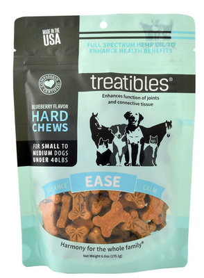 75 ct Treatibles Small-Medium Dog Grain-Free Hemp Hard Chews