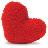 Fleecy Red Heart Dog Toy