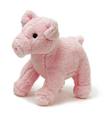 Jeffers Plush Pig Squeaky Toy, Pink