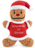 "8"" Plush Santa's Gingerbread Man Dog Toy"