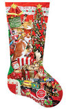 "800 Piece Shaped Jigsaw Puzzle ""Kitty Stocking"""