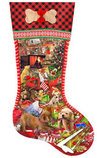"800 Piece Shaped Jigsaw Puzzle ""Puppy Stocking"""
