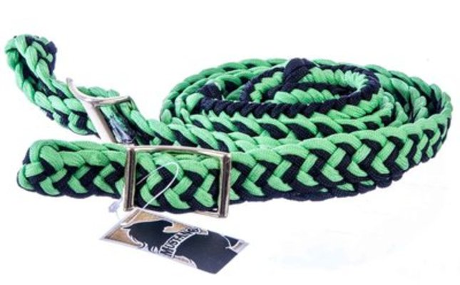 Knotted Braided Barrel Rein, 8'