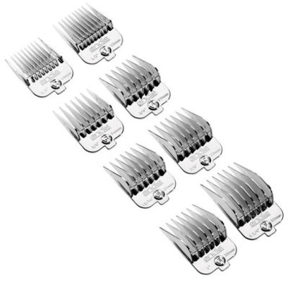 Andis Chrome Magnetic Comb 8-pc Set