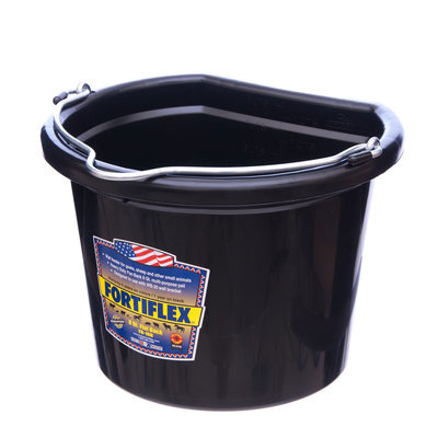 8 qt Flatback Bucket (Black)