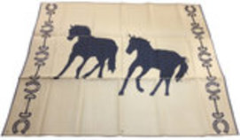 Double Horse Design Themed Mats 9'x12'