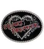 Heart Breaker Attitude Belt Buckle