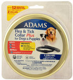 Adams Premium Flea & Tick Collar Plus for Dogs (2-pack/Gold Tin)