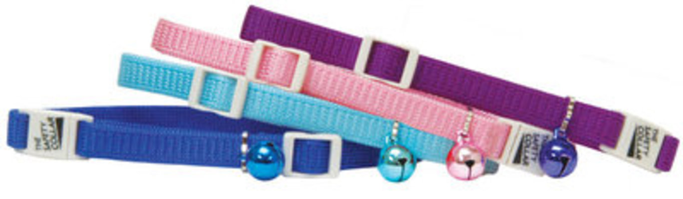"Adjustable Safety Cat Collars, 8""-12"""