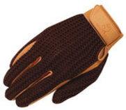 Crochet Riding Gloves, Adult