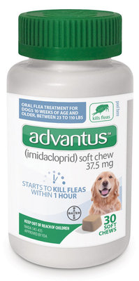 30 count Advantus for Dogs 23-110 lb
