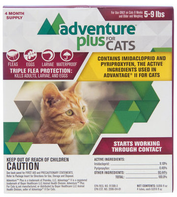 Adventure Plus for Cats, 4-pack