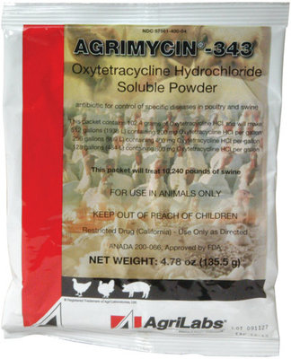 Agrimycin-343, 4.78 oz packet