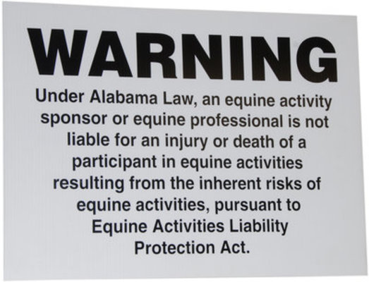 Alabama Liability Sign