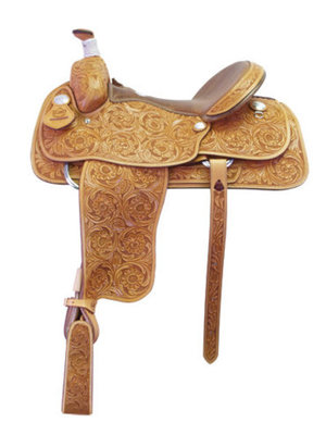Fully Tooled Roper Saddle, 17""