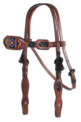 Multi Color Diamond Inlaid Beaded Headstall