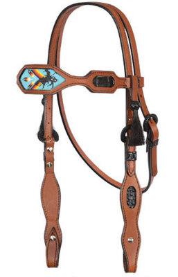 Native American Inlaid Beaded Headstall