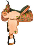 "Alamo Saddlery ""Prickly Cactus"" Barrel Saddle"