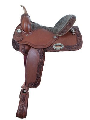 Alamo Saddlery Rose Barrel Saddle