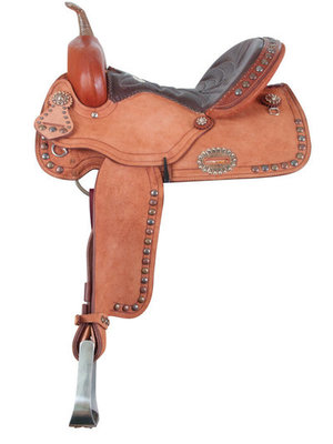 Alamo Saddlery Tri-Spotted Barrel Saddle