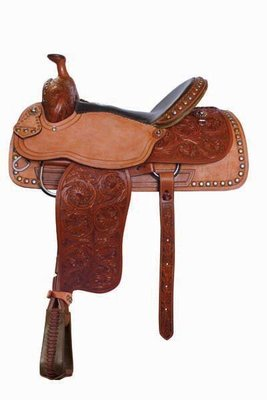 Alamo Saddlery Vintage Roper Saddle, 15.5""