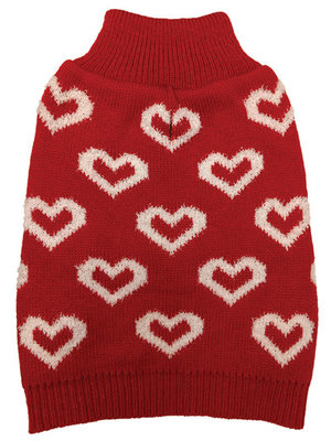 All Over Hearts Dog Sweater