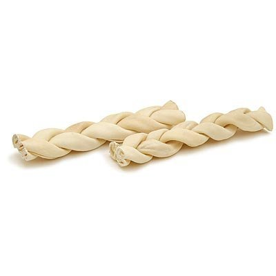 Braided Rawhide Sticks, 2 Count