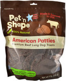 American Patties Premium Beef Lung Dog Treats