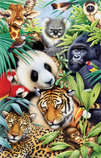 Animal Magic, 100-piece Kid's Jigsaw Puzzle