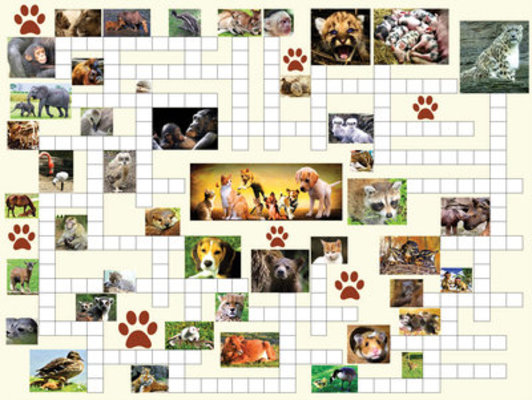 Animal Nursery 2-in-1 Puzzle Combo, 500 Piece