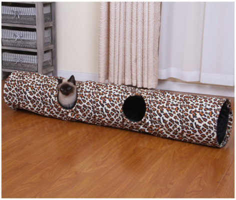 Animal Print Cat Tunnel