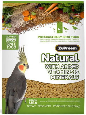 ZuPreem Natural - Lg Birds, 20 lb