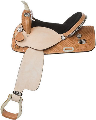 Aztec Lace Suede Barrel Saddle